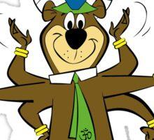 Yogi Bear - More Enlightened Than The Average Bear Sticker