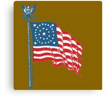 Patriotic Vintage Historic American Flag Canvas Print