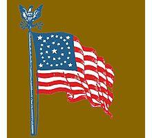 Patriotic Vintage Historic American Flag Photographic Print