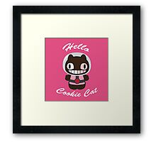 Hello Cookie Cat Framed Print