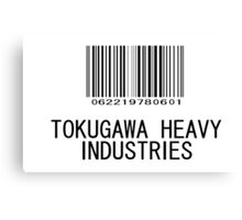 Tokugawa Heavy Industries (Black) (Metal Gear) Canvas Print
