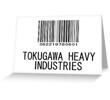 Tokugawa Heavy Industries (Black) (Metal Gear) Greeting Card
