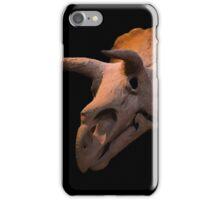 Triceratops dinosaur skull iPhone Case/Skin