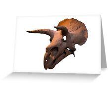 Triceratops dinosaur skull Greeting Card