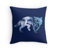 out of the woods wolf Throw Pillow