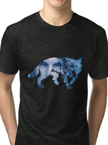 out of the woods wolf Tri-blend T-Shirt
