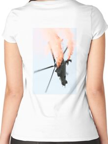 Mil Mi-24 Helicopter Women's Fitted Scoop T-Shirt