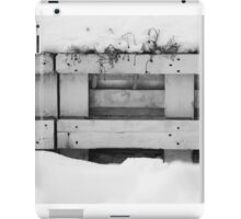 Black and white fence in snow, photograph iPad Case/Skin