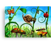 Steampunk - Bugs - Evolution take time Canvas Print