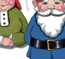 Gnome Couple, Man and Wife, Hand Drawn Gnomes Sticker