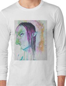 Dark Elf Watercolor Long Sleeve T-Shirt