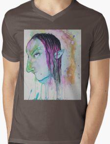 Dark Elf Watercolor Mens V-Neck T-Shirt