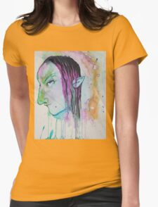 Dark Elf Watercolor Womens Fitted T-Shirt