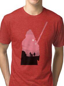 Ben Kenobi Silhouette Tri-blend T-Shirt