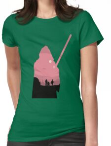 Ben Kenobi Silhouette Womens Fitted T-Shirt