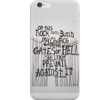 Matthew 16:18 Typography Art iPhone Case/Skin