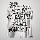 Matthew 16:18 Typography Art by ArtLuver