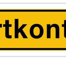 Fartkontrol (Speed Control), Road Sign, Denmark Sticker