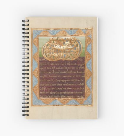 Decorated Text Page - Vere Dignum Monogram (1025 - 1050 AD) Spiral Notebook