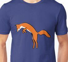 Cute Colorful Orange Leaping Fox Unisex T-Shirt