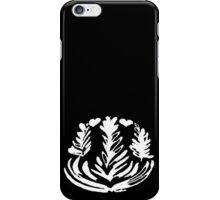 Latte Art: Triple Rosetta+Double Heart White iPhone Case/Skin