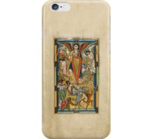 Saint Michael Battling the Dragon (1170 AD) iPhone Case/Skin