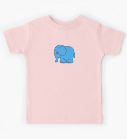 Funny cross-stitch blue elephant Kids Tee