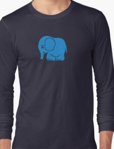 Funny cross-stitch blue elephant T-Shirt