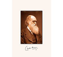 Charles Darwin, autograph, 1874 retouched photo Photographic Print
