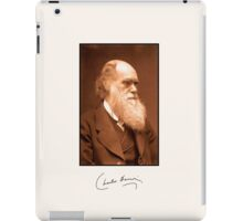 Charles Darwin, autograph, 1874 retouched photo iPad Case/Skin