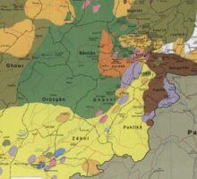 Afghanistan Major Insurgent Groups Map (1985) Sticker