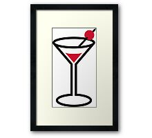 Martini cocktail glass Framed Print
