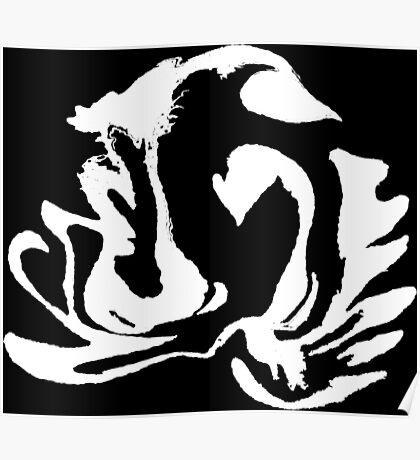 Latte Art: Double Swan White Poster