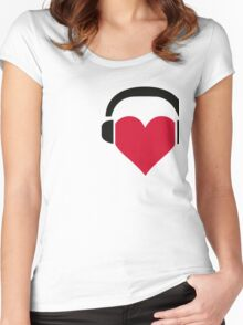 I love music! Women's Fitted Scoop T-Shirt
