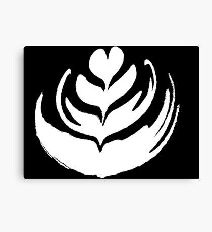 Latte Art: Tulip White Canvas Print