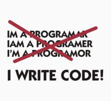 I write code! by artpolitic