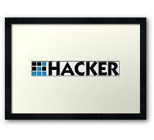 I am a hacker Framed Print