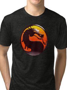 MORTAL KOMBAT PIXEL LOGO Tri-blend T-Shirt