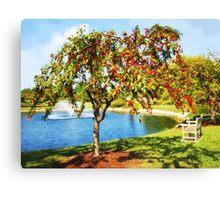 Mcbride Arboretum Pond Canvas Print