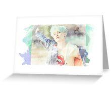 Suga green and blue Greeting Card