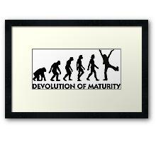 The Evolution of maturity Framed Print