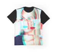 Digital Distortion Graphic T-Shirt