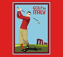 Retro 1920s style Golf in Italy travel ad  Unisex T-Shirt