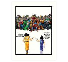 DBZ   Super heroes  Art Print