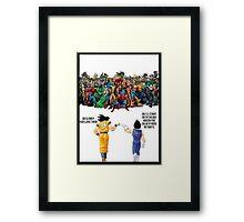 DBZ   Super heroes  Framed Print