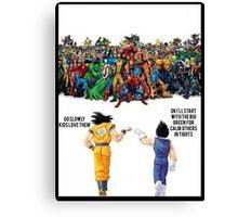 DBZ | Super heroes  Canvas Print