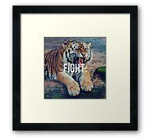 Fight, Motivation quote, Tiger Framed Print