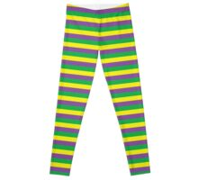 Mardi Gras Stripes Leggings