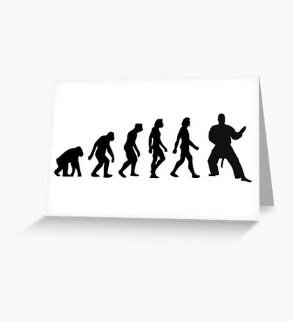 The Evolution of Judo Greeting Card