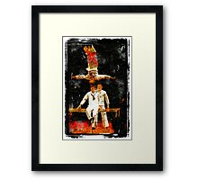 Artists at a circus Framed Print